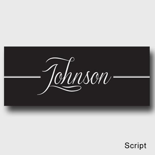 Personalized Family First Canvas Sign - Classic, Elegant, or Script - Script - JDS