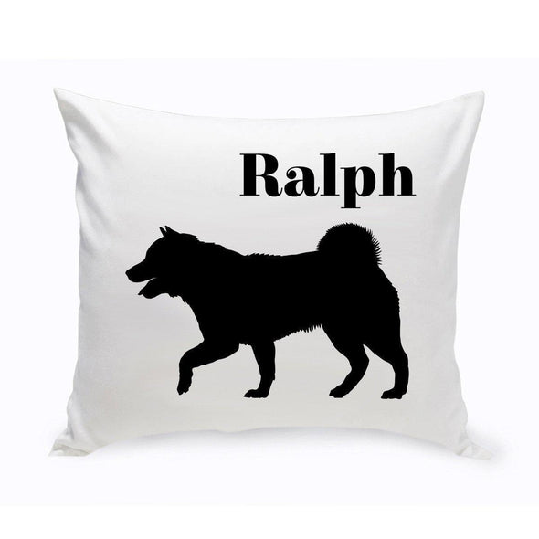 Personalized Dog Throw Pillow - SiberianHusky - JDS