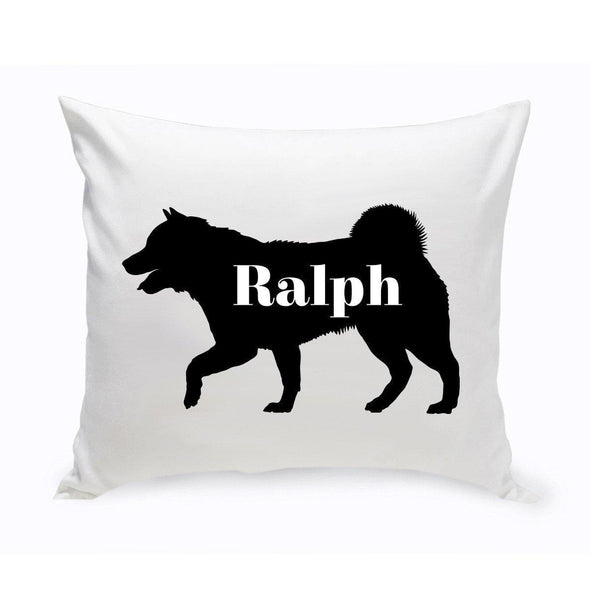 Personalized Dog Throw Pillow - Dog Silhouette - SiberianHusky - JDS