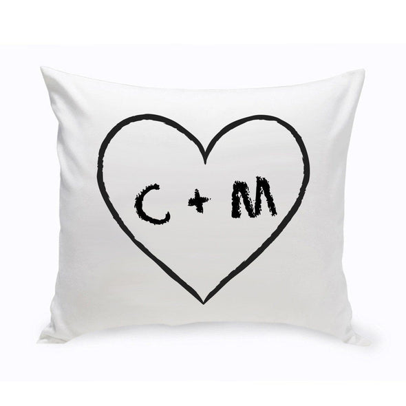 Personalized Couples Unity Throw Pillow - HeartOfLove - JDS