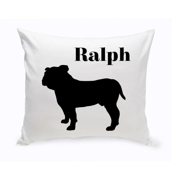 Personalized Dog Throw Pillow - EnglishBulldog - JDS