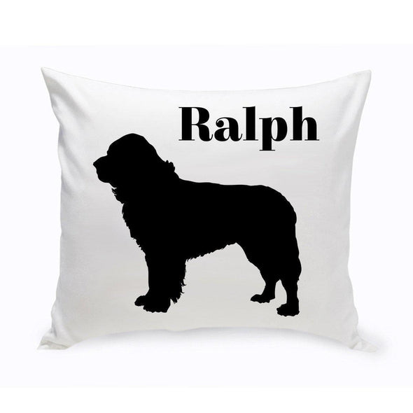 Personalized Dog Throw Pillow - St.Bernard - JDS