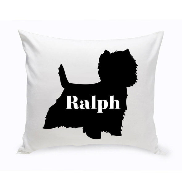 Personalized Dog Throw Pillow - Dog Silhouette - WestHighlandTerrier - JDS