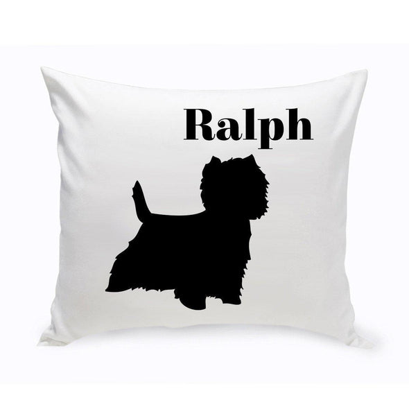 Personalized Dog Throw Pillow - WestHighlandTerrier - JDS
