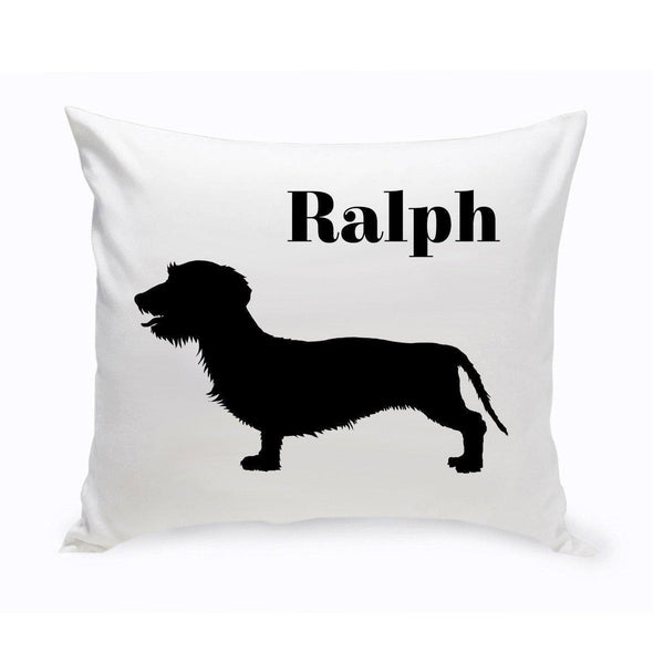 Personalized Dog Throw Pillow - Wire-HairedDachsund - JDS