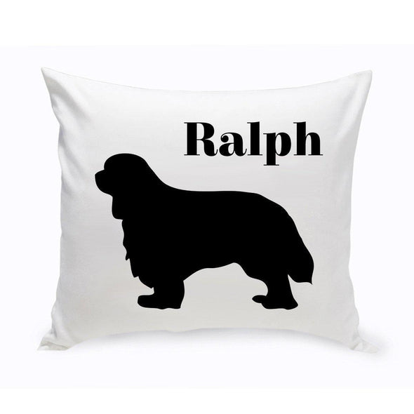 Personalized Dog Throw Pillow - CavalierKingCharlesSpaniel - JDS