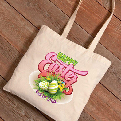 Personalized Easter Canvas Bag - Easter Bouquet -  - JDS