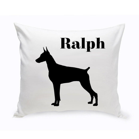Personalized Dog Throw Pillow - DobermanPinscher - JDS