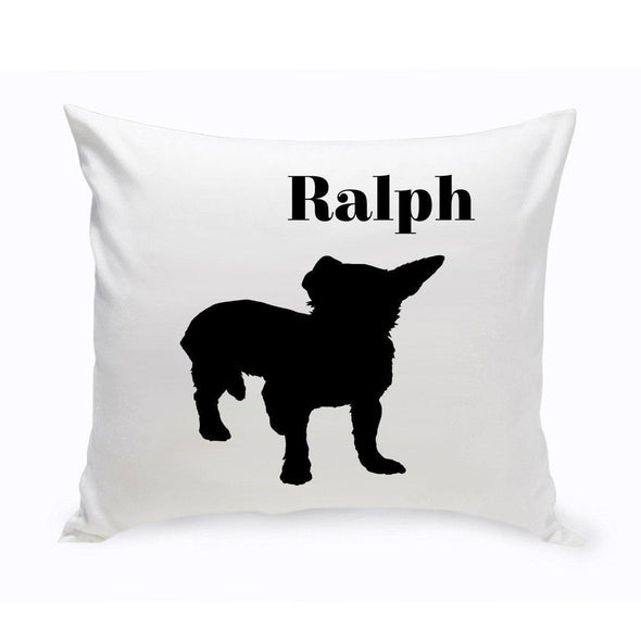 Personalized Dog Throw Pillow - ShorthairChihuahua - JDS
