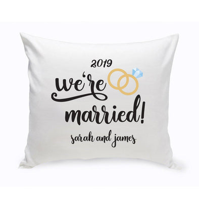 Personalized Throw Pillow - We're Married -  - JDS