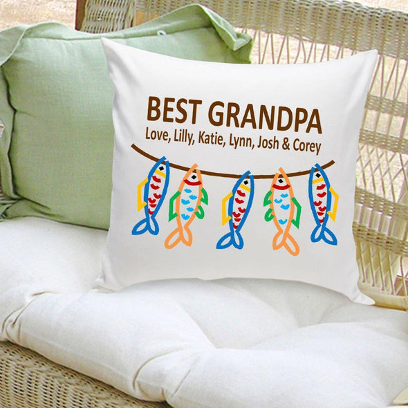 Personalized Parent Throw Pillow - Grandpa's Crew -  - JDS