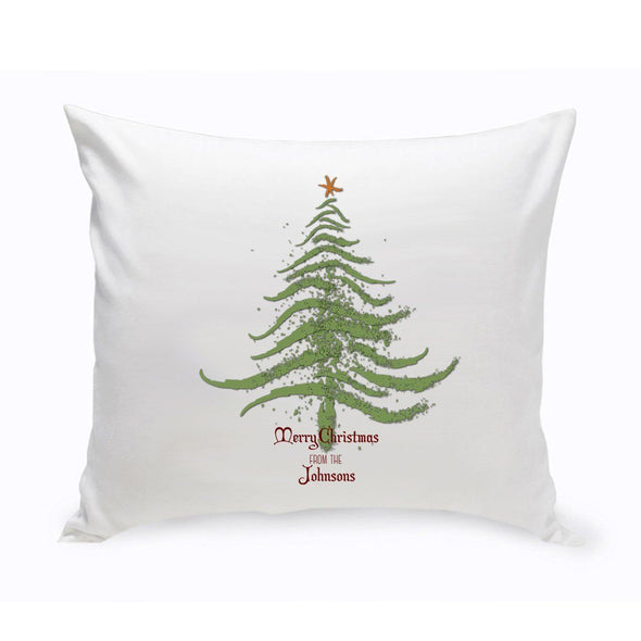 Personalized Vintage Christmas Throw Pillow - All - CMASTREE - JDS