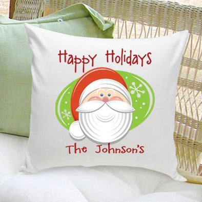 Personalized Holiday Santa Throw Pillows -  - JDS