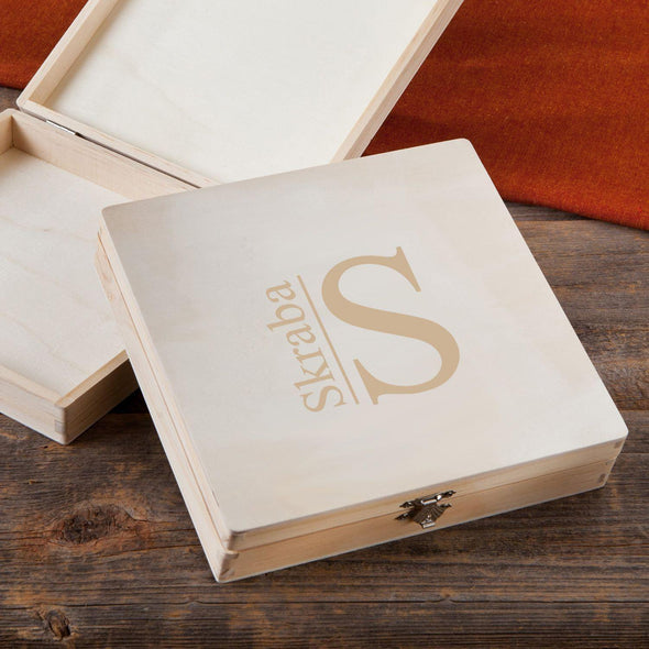 Personalized Groomsmen Wood Keepsake Box - Modern - JDS