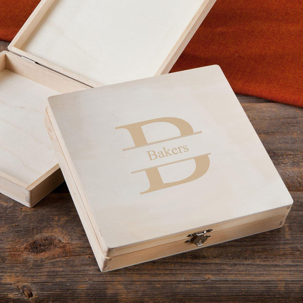 Personalized Groomsmen Wood Keepsake Box - Stamped - JDS