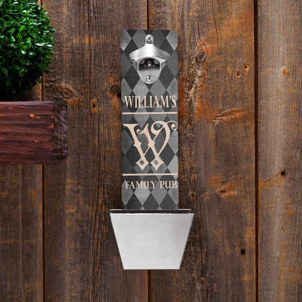 Personalized Wall Mounted Bottle Opener - 12 Designs - FamilyArgyle - JDS