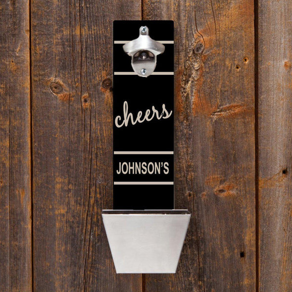 Personalized Wall Mounted Bottle Opener - 12 Designs - Cheers - JDS