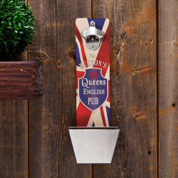 Personalized Wall Mounted Bottle Opener - 12 Designs - QueensPub - JDS