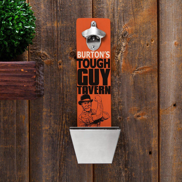 Personalized Wall Mounted Bottle Opener - 12 Designs - ToughGuy - JDS