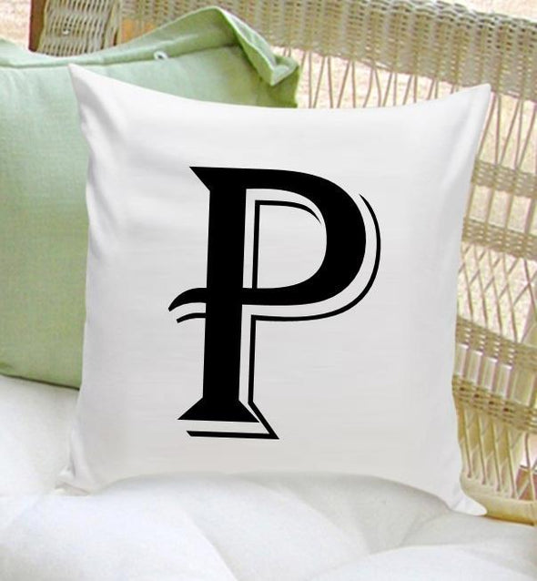 Personalized Initial Throw Pillow - Contemporary - JDS