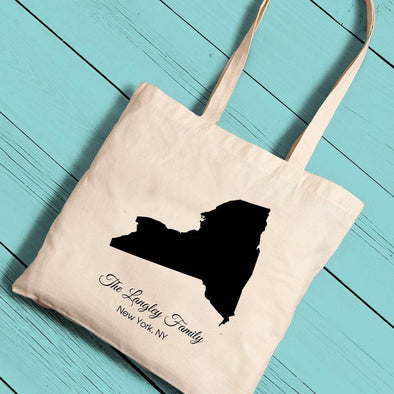 Personalized State Canvas Tote Bag -  - JDS