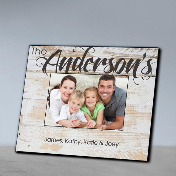 Personalized Family Picture Frame - WhiteWash - JDS