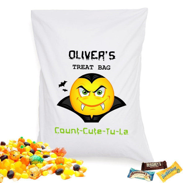 Personalized Halloween Treat Pillowcase - Dracula - JDS