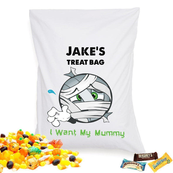 Personalized Halloween Treat Pillowcase - Mummy - JDS