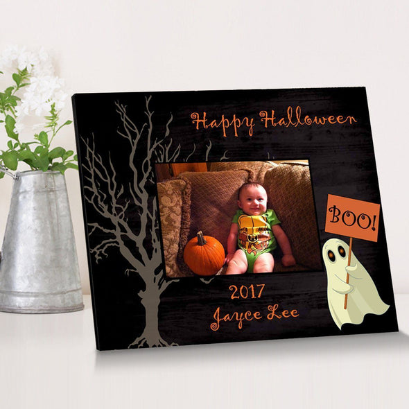 Personalized Halloween Picture Frame - Ghost - JDS