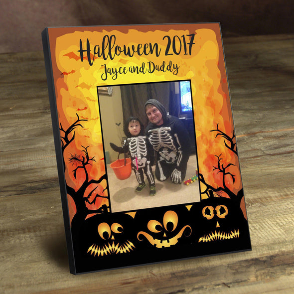 Personalized Halloween Picture Frame - Pumpkins - JDS