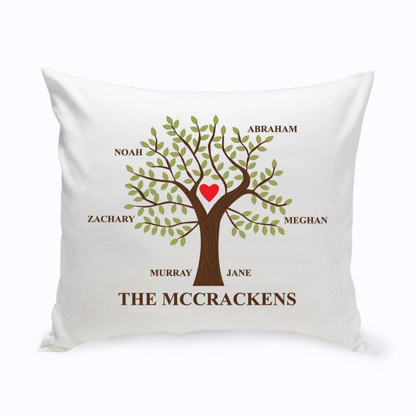 Personalized Family Tree Throw Pillow - Traditional - JDS
