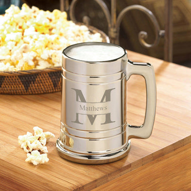 Personalized Gunmetal Beer Mugs - 16 oz. - 6 Designs - Stamped - JDS