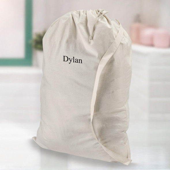 Personalized Laundry Bag - White - JDS