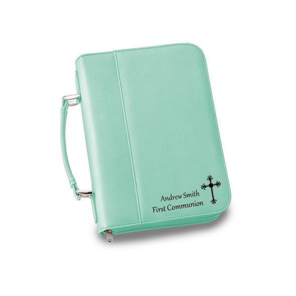 Personalized Leather Bible Cover - 6 Colors - Mint - JDS