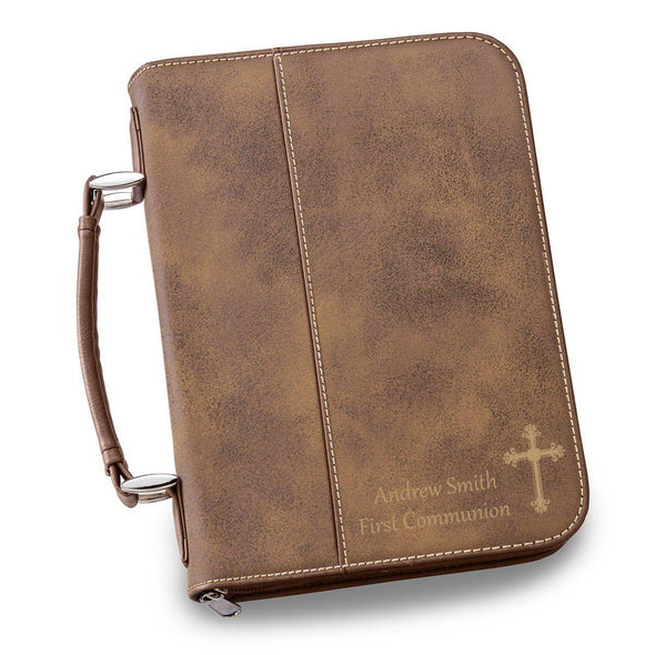 Personalized Leather Bible Cover - 6 Colors - Rustic - JDS
