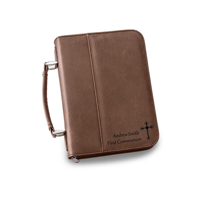 Personalized Small Bible Case - 6 Colors - DarkBrown - JDS