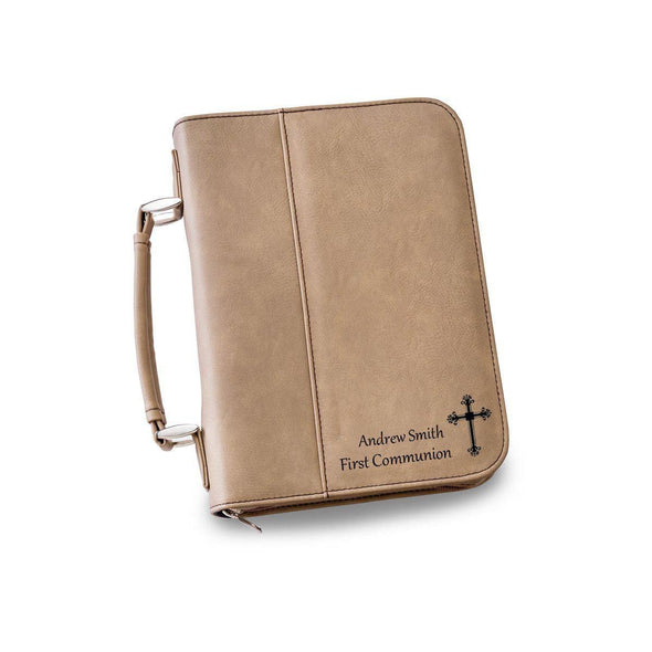 Personalized Small Bible Case - 6 Colors - LightBrown - JDS