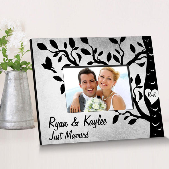 Personalized Etchings On The Tree Wooden Picture Frame -  - JDS