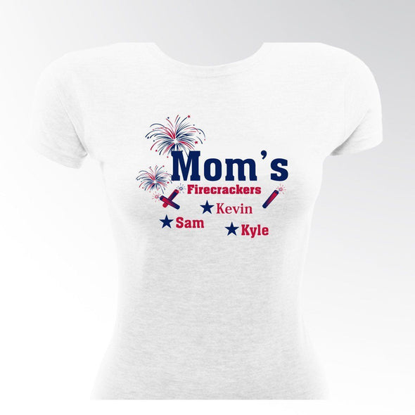 Personalized Mom's Firecrackers T-shirt -  - JDS