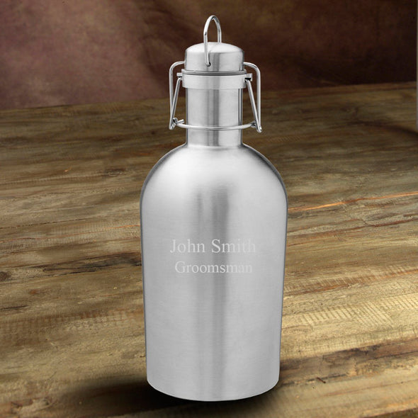 Personalized Insulated Stainless Steel Beer Growler - 2Lines - JDS