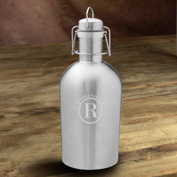 Personalized Insulated Stainless Steel Beer Growler - Circle - JDS