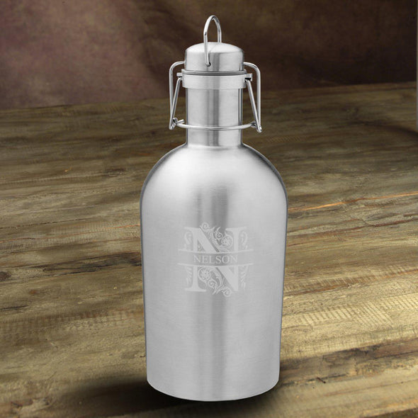 Personalized Insulated Stainless Steel Beer Growler - Filigree - JDS