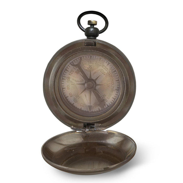 Personalized Antiqued Keepsake Compass with Wooden Box -  - JDS