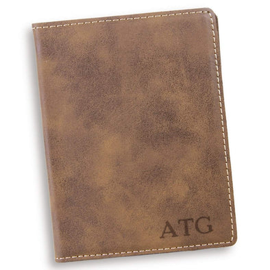Personalized Rustic Passport Holder - Blind - JDS