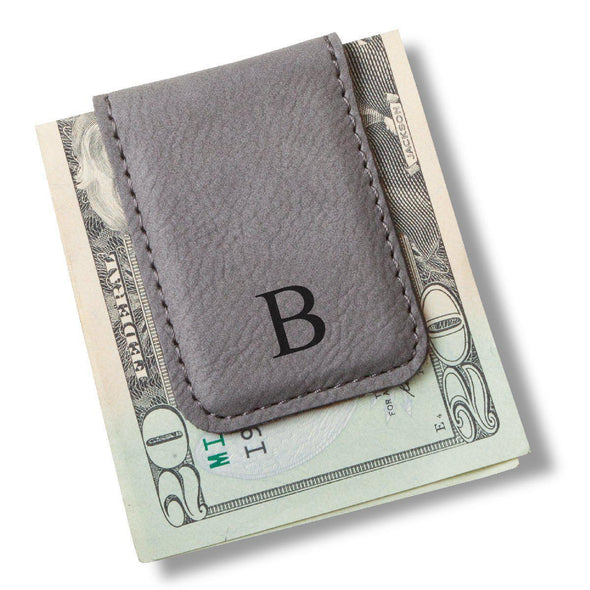 Men's Magnetic Money Clip - Single Initial - Gray - JDS