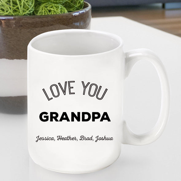Personalized Love You Dad/Grandpa Coffee Mug - LoveGpa - JDS