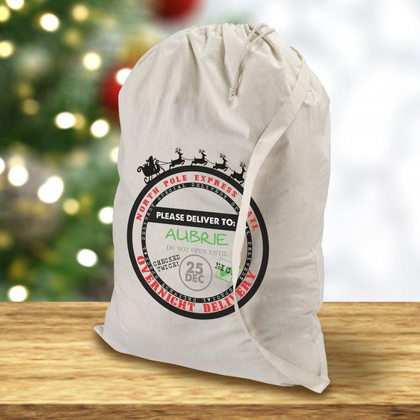 Personalized Santa Bags - Circle - JDS