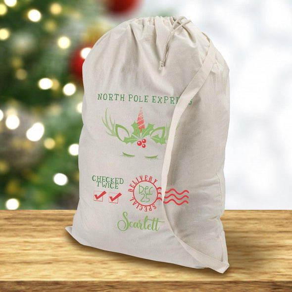 Personalized Santa Bags - Unicorn - JDS