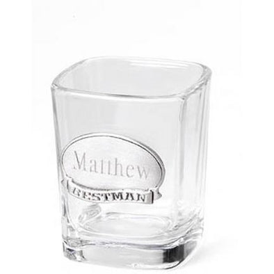 Personalized Shot Glass w/Pewter Medallion -  - JDS