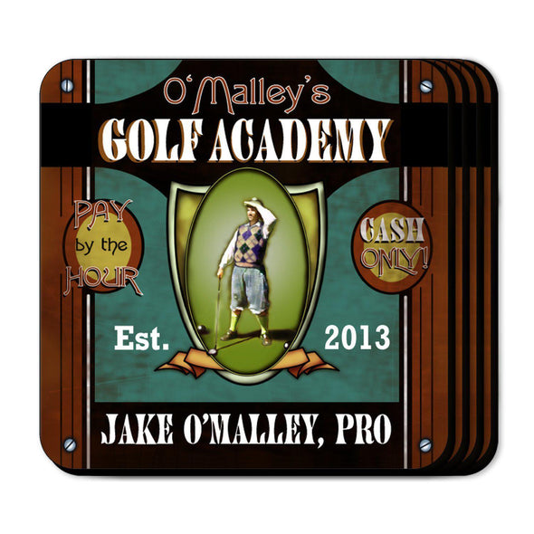 Personalized Coaster Set - GolfAcademy - JDS